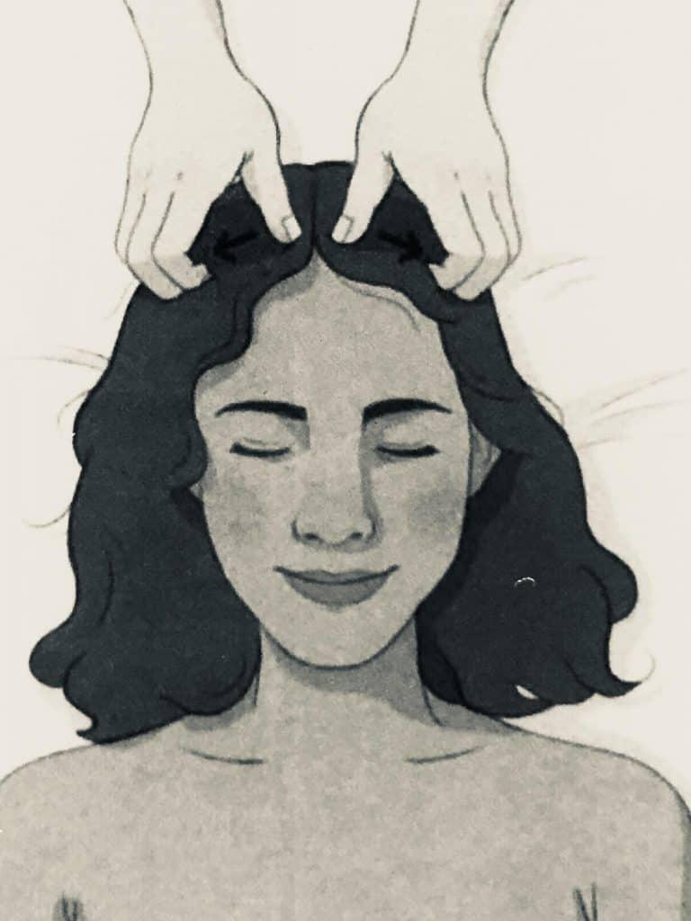Hair Part Scalp Massage