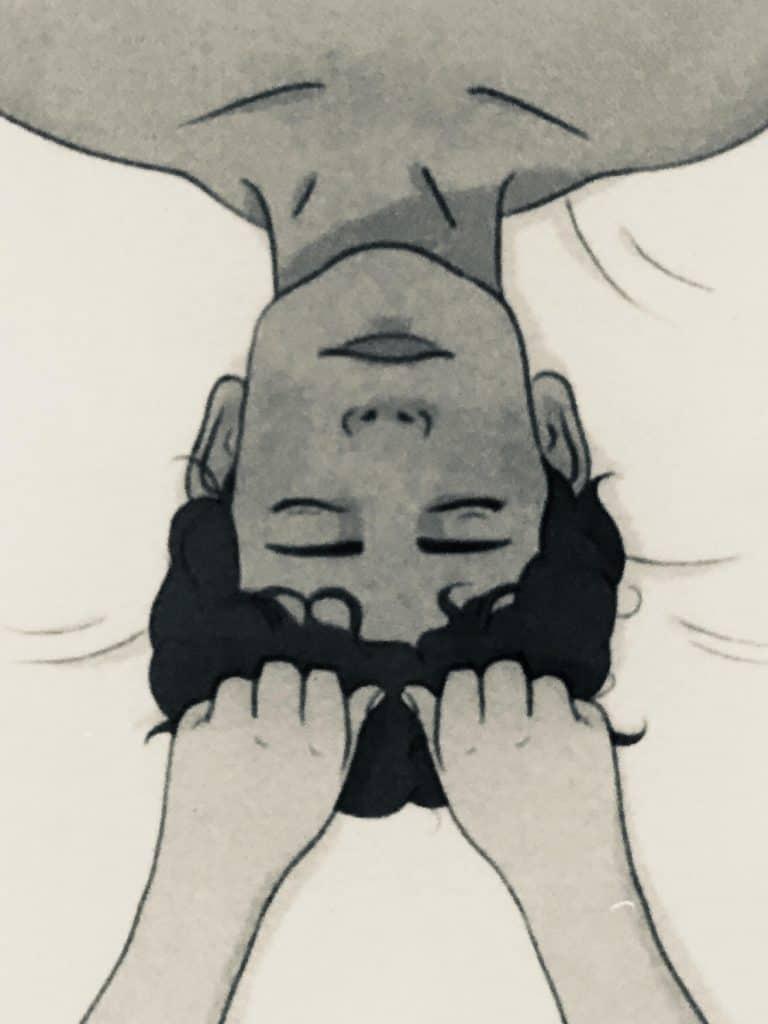 Pull & hold scalp massage